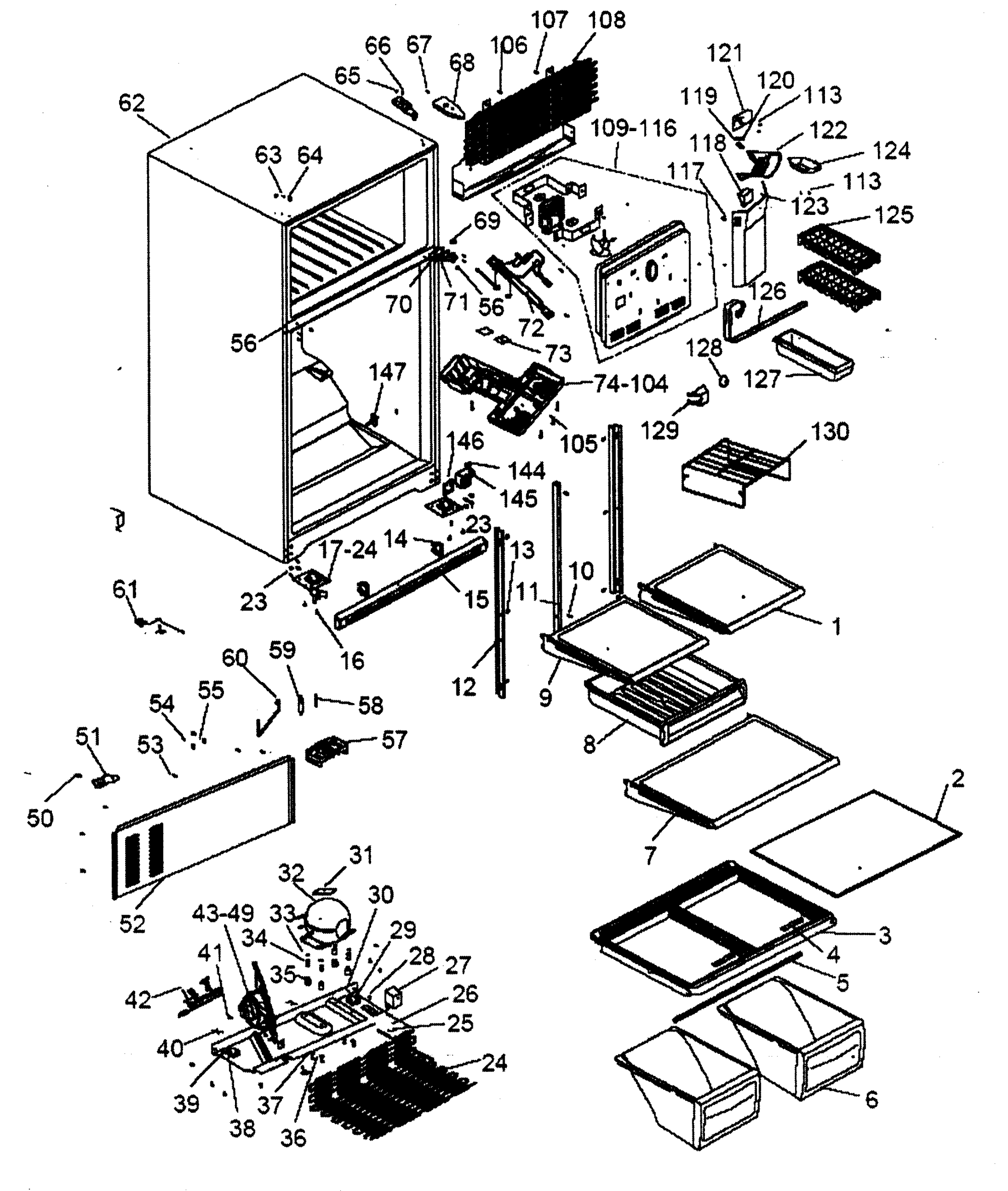 hight resolution of refrigerator parts diagram photos