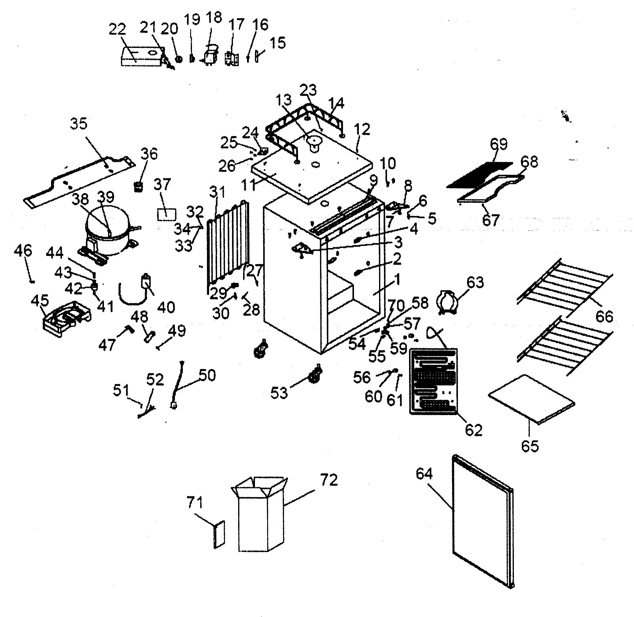 CABINET PARTS 2 Diagram & Parts List for Model HBF05EABB