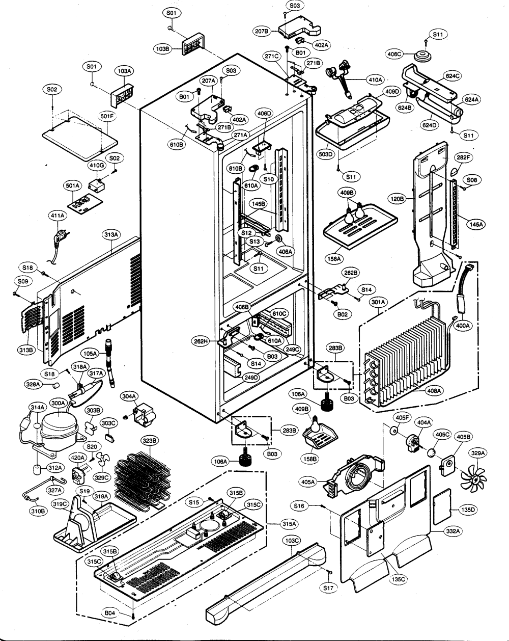medium resolution of kenmore elite 79575199401 case parts diagram