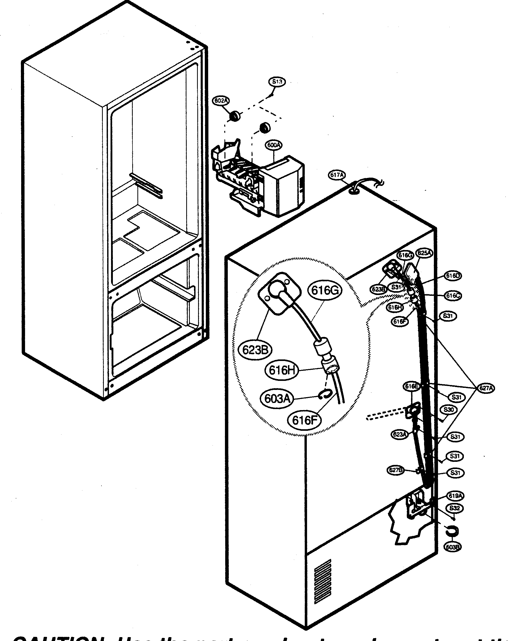 ICE MAKER PARTS Diagram & Parts List for Model 79575193401