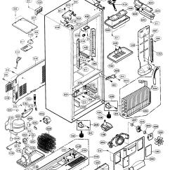 Kenmore 106 Refrigerator Parts Diagram Cable Tv Wiring Elite Model 79575543401 Bottom Mount Genuine