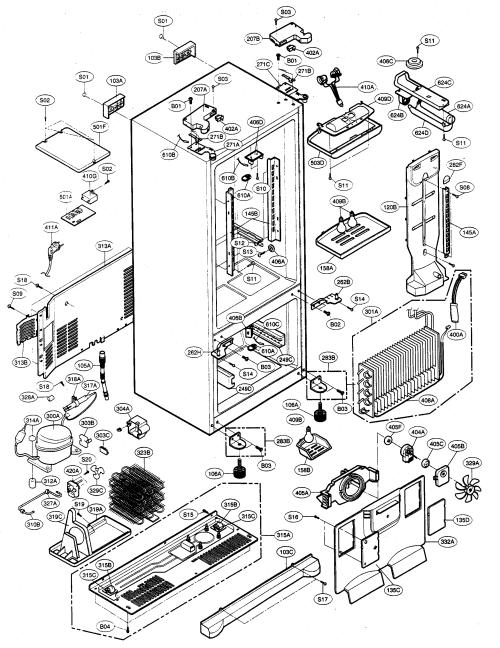 small resolution of kenmore elite model 79575543401 bottom mount refrigerator genuine parts rh searspartsdirect com kenmore chest freezer small