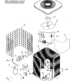 icp model nhp230aka1 air conditioner heat pump outside unit genuine rh searspartsdirect com trane heat pump [ 2251 x 2794 Pixel ]