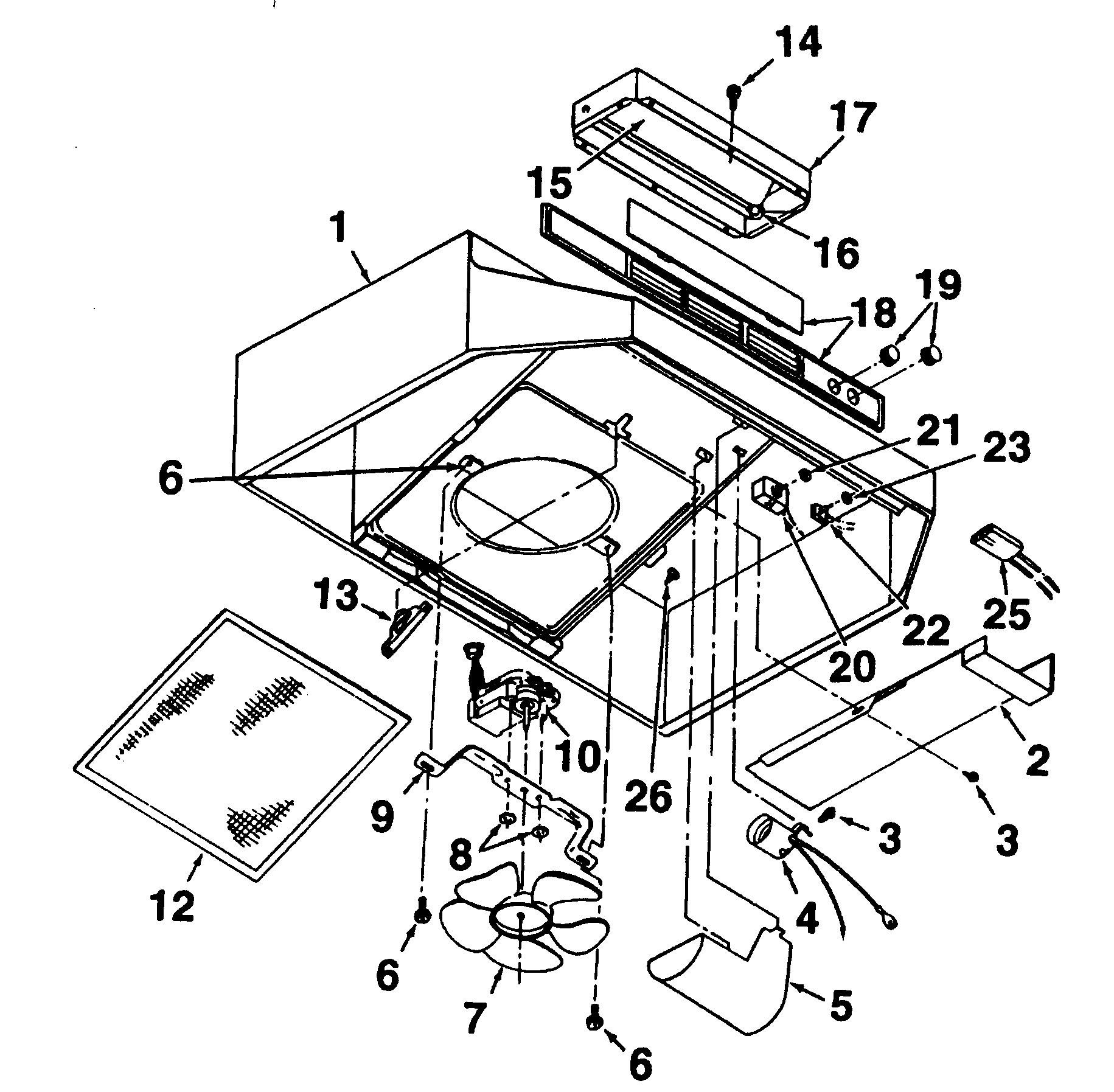 Kenmore Range Hood Wiring Diagram Parts Model 23353345590
