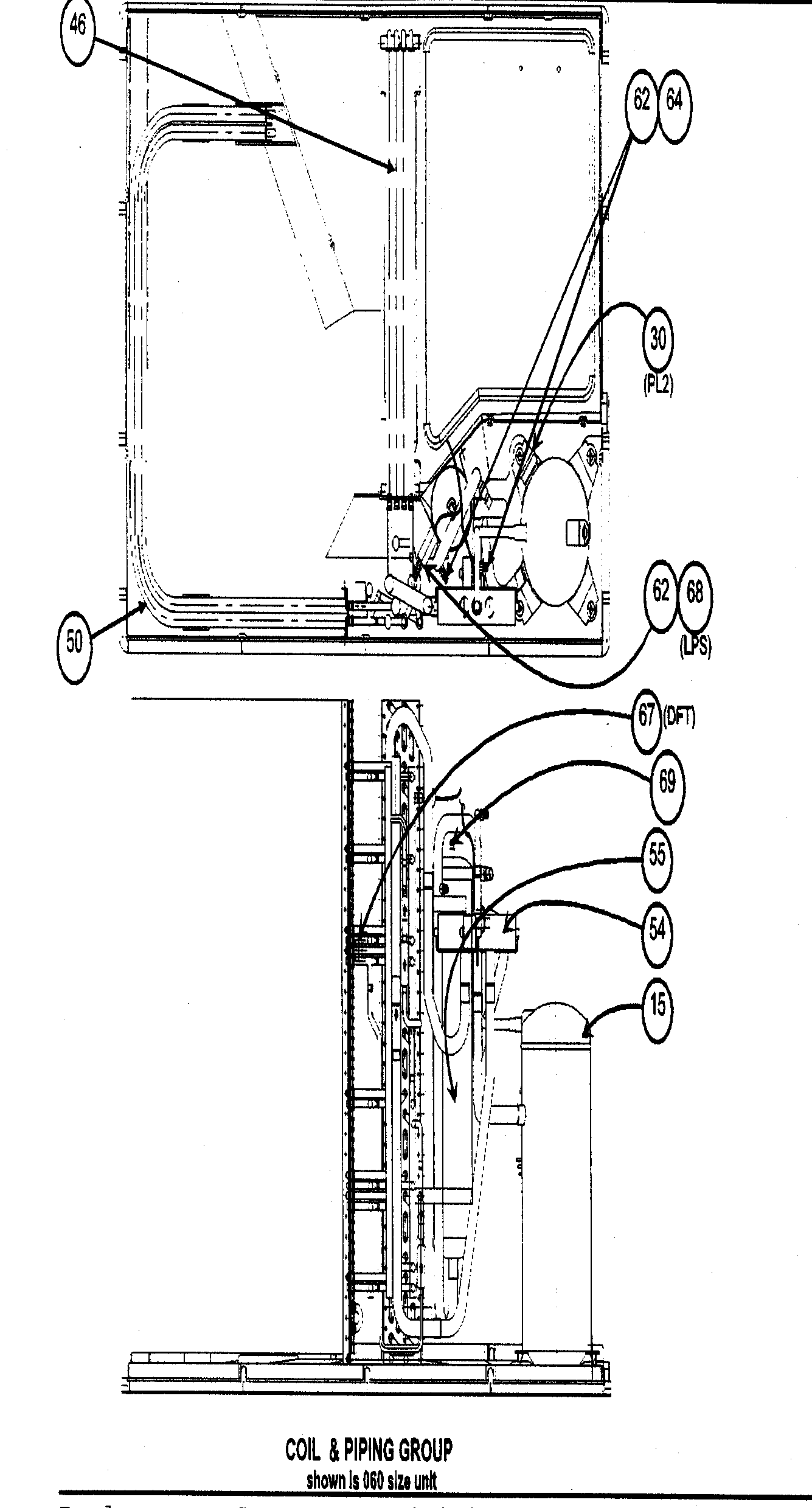 COIL/PIPING ASSY Diagram & Parts List for Model