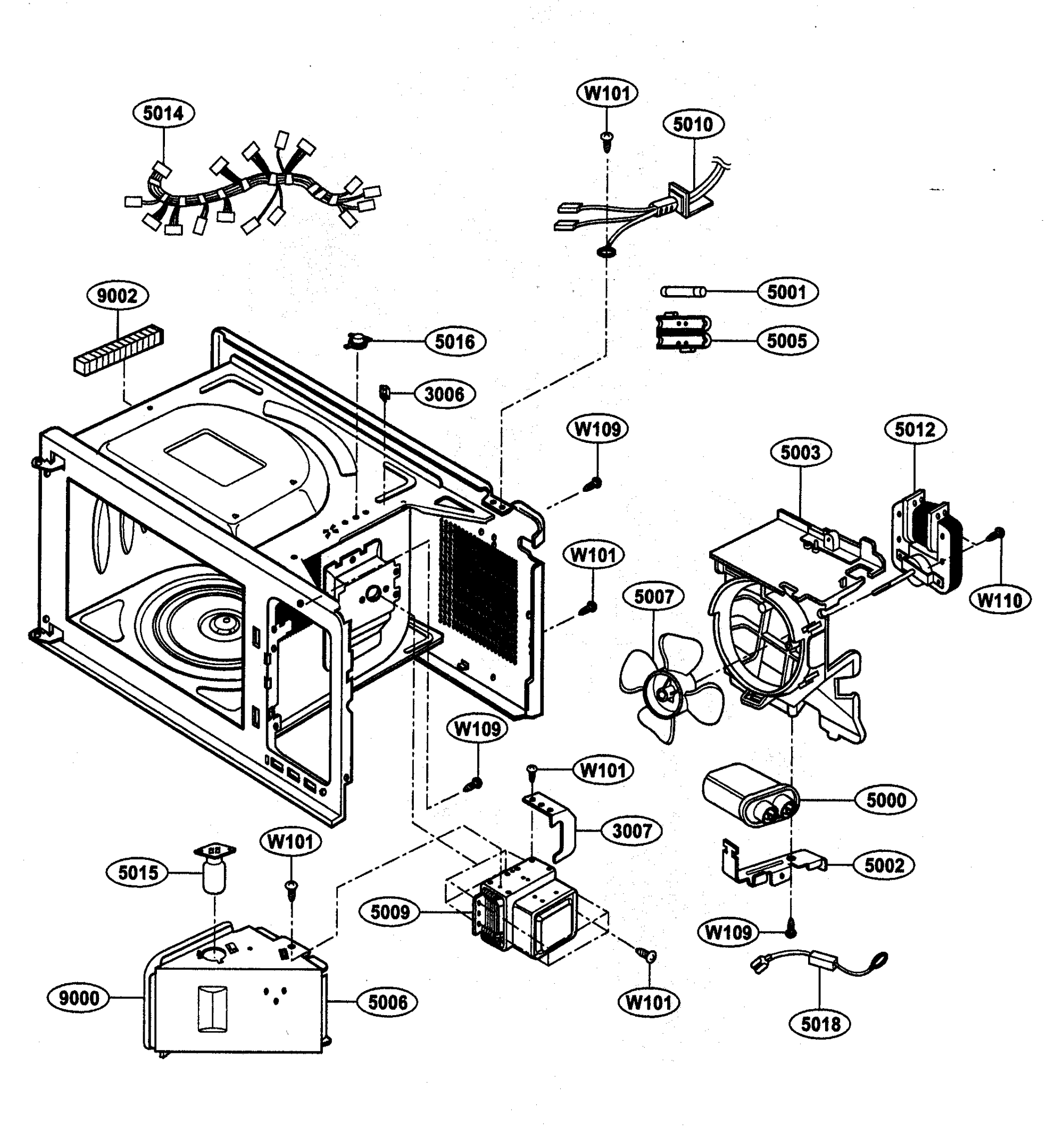 hight resolution of kenmore 72163252301 oven interior parts diagram