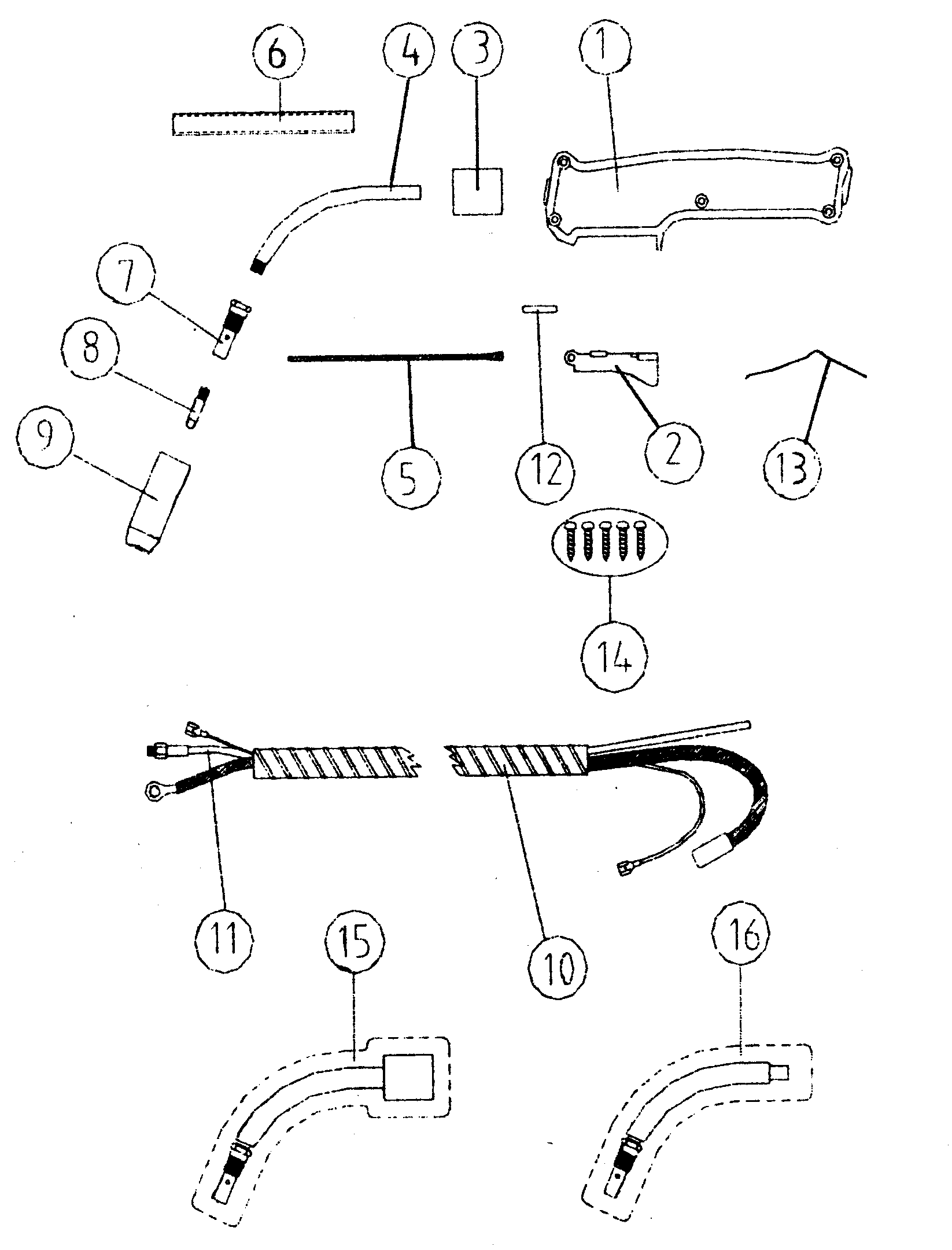 TORCH SPARE Diagram & Parts List for Model 196205660
