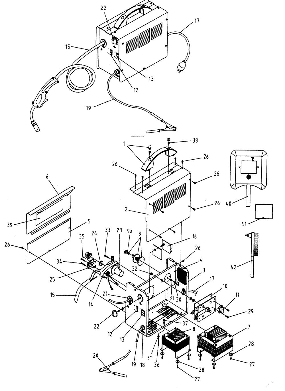 medium resolution of mig welder parts diagram craftsman mig welder parts model 196205680