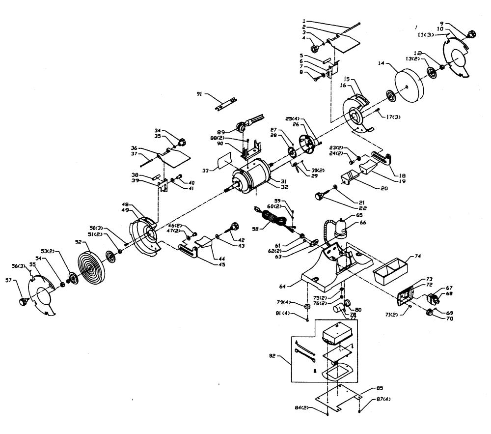 medium resolution of craftsman 152211620 grinder assy diagram
