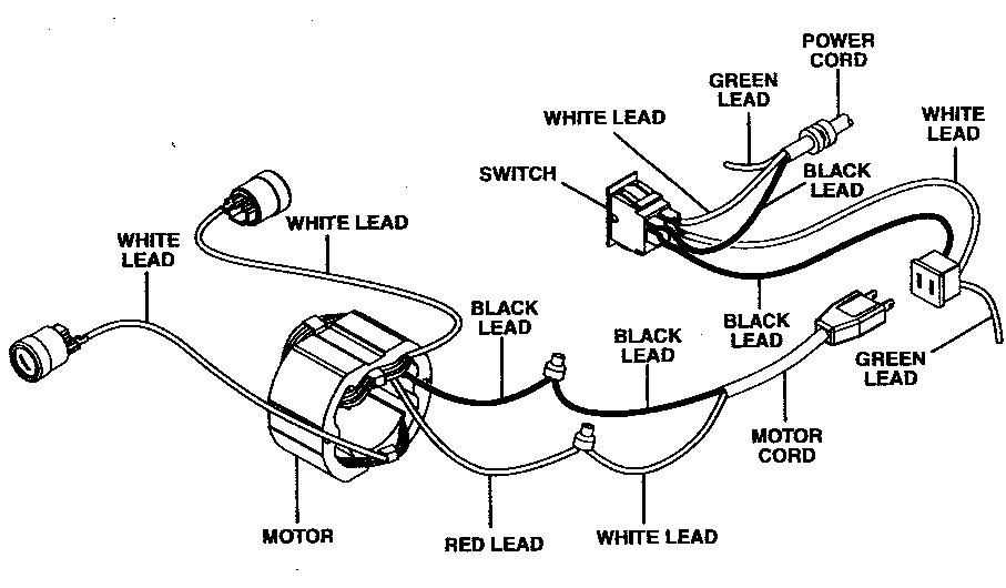 capacitor start motor wiring diagram craftsman chrysler radio schematic black white green database ryobi table saw circuits