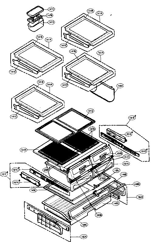REFRIGERATOR PARTS Diagram & Parts List for Model