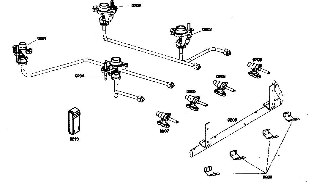 VALVES Diagram & Parts List for Model hgs435uc01 Bosch