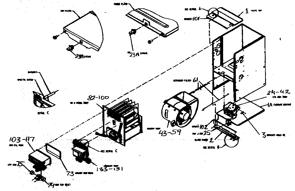 CABINET PARTS Diagram & Parts List for Model