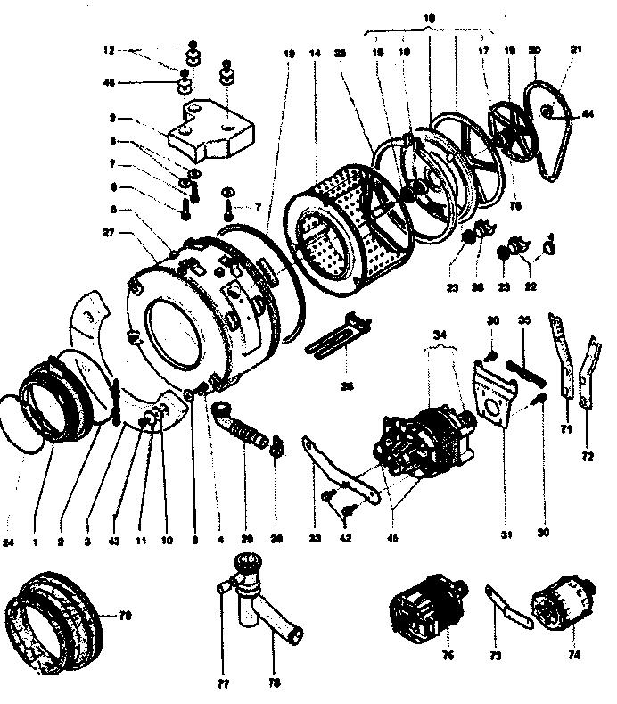 DRUM ASSY Diagram & Parts List for Model EZ3600CEE Equator