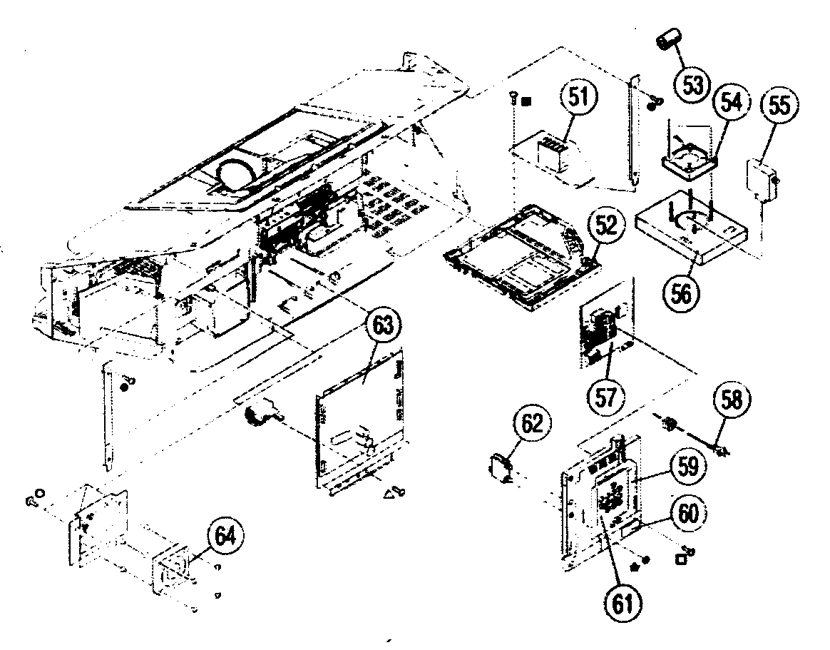 CABINET PARTS 2 Diagram & Parts List for Model kdf50e2000