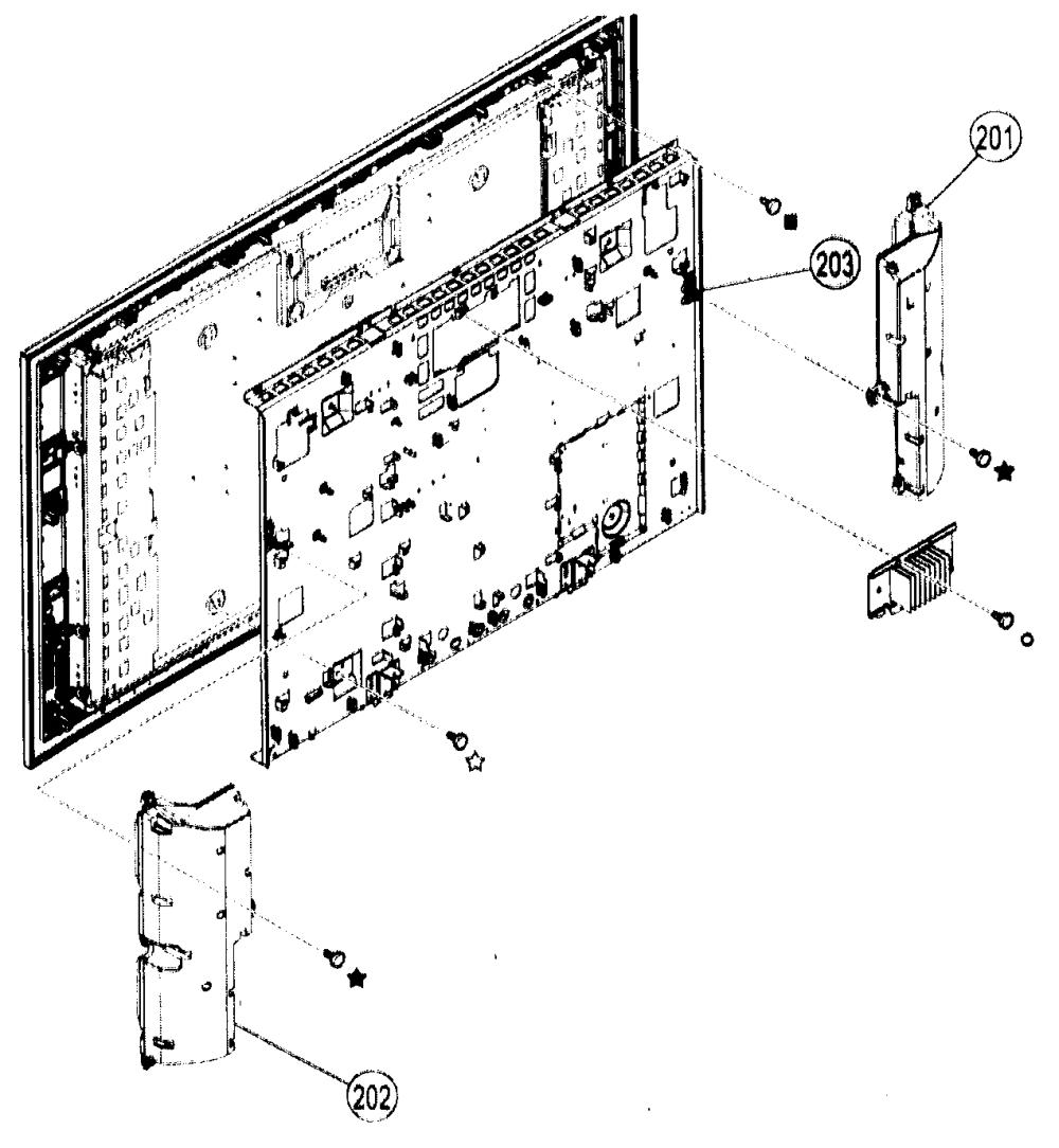 medium resolution of sony kdl 46xbr2 cabinet parts 4 diagram