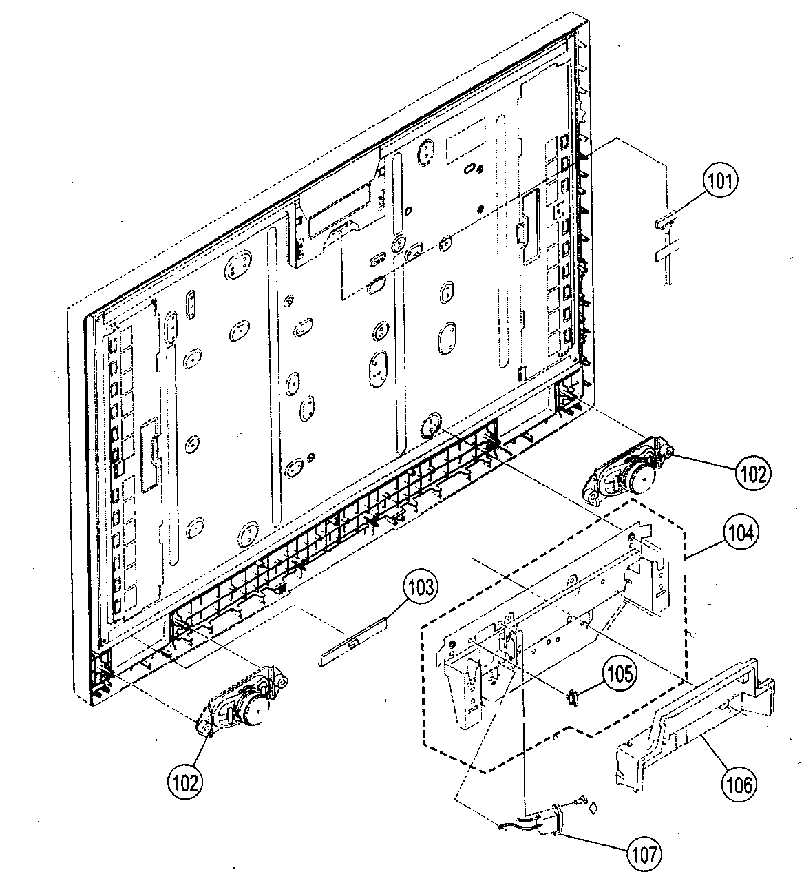 SPEAKERS Diagram & Parts List for Model kdl46v2500 Sony