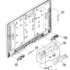 Parts Of A Speaker Diagram Vw Beetle Alternator Wiring Speakers And List For Model Kdl46v2500 Sony