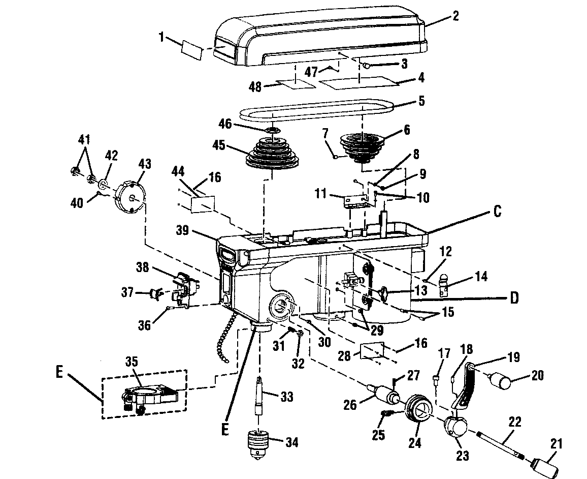 wiring diagram model 726 drill press