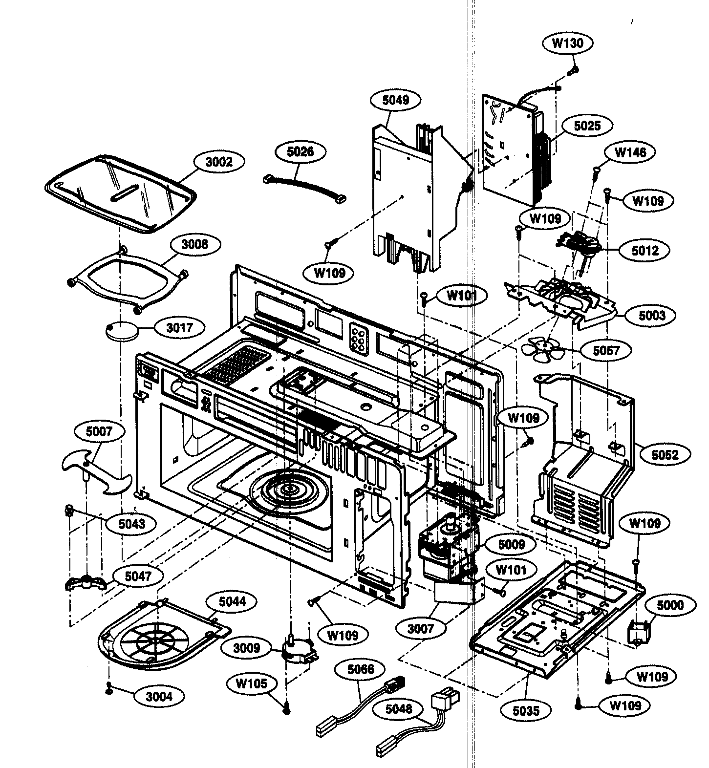 INTERIOR I Diagram & Parts List for Model 72180863400
