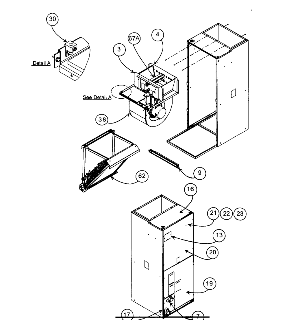 medium resolution of carrier fa4cnf036000aaaa cabinet parts diagram