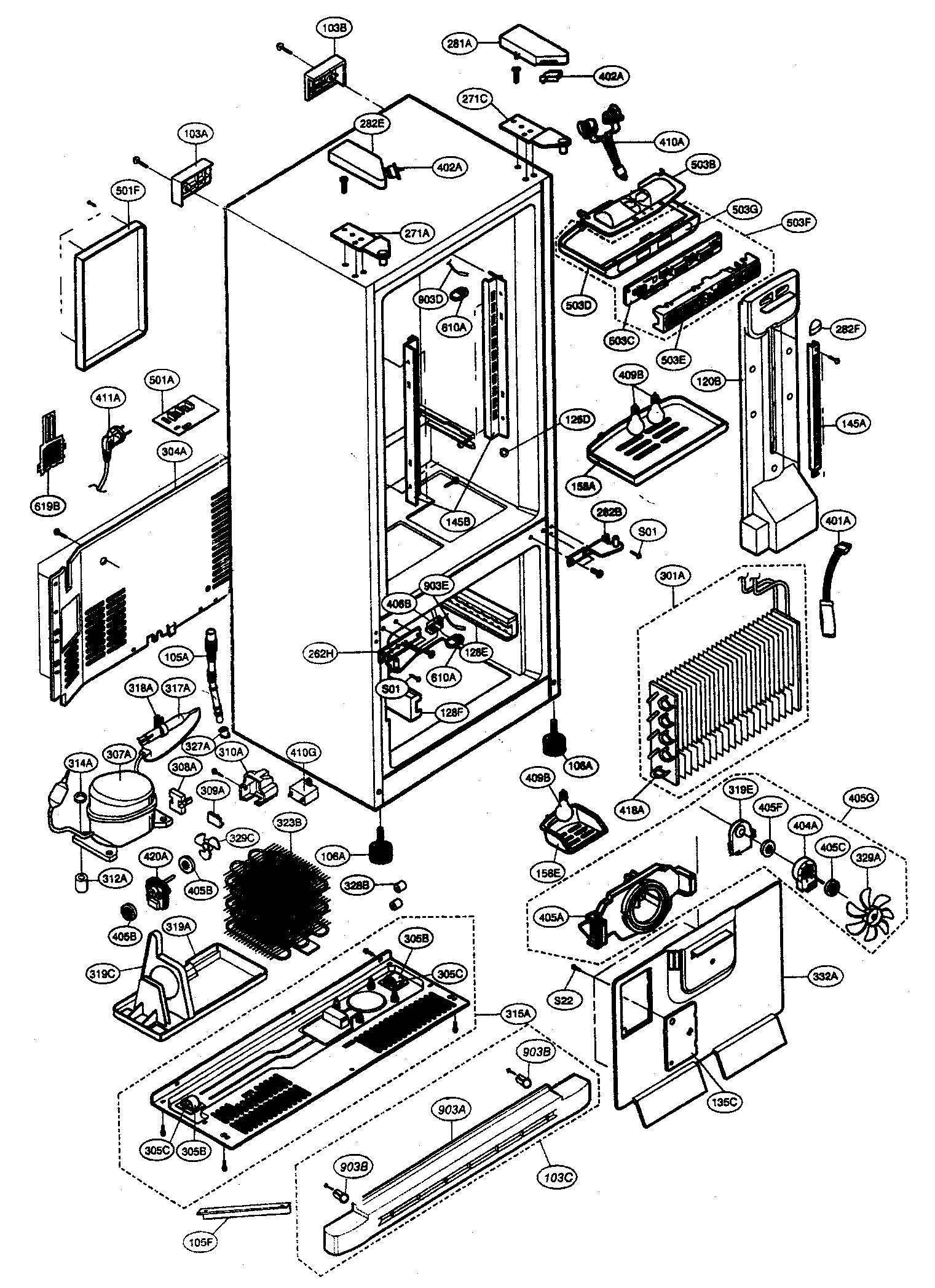 CABINET PARTS Diagram & Parts List for Model 79577319600