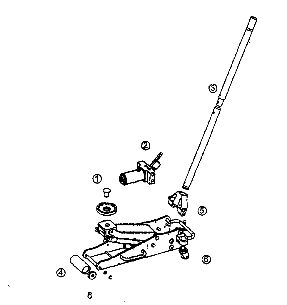 JACK ASSY Diagram & Parts List for Model 21450239