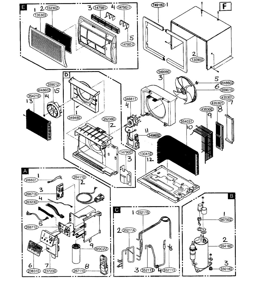 medium resolution of haier air conditioner wiring diagram wiring diagrams tappan air conditioner wiring diagram friedrich model us10b10a air