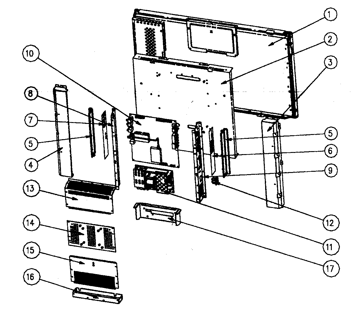 BASE ASSY Diagram & Parts List for Model LTV32W4HDC