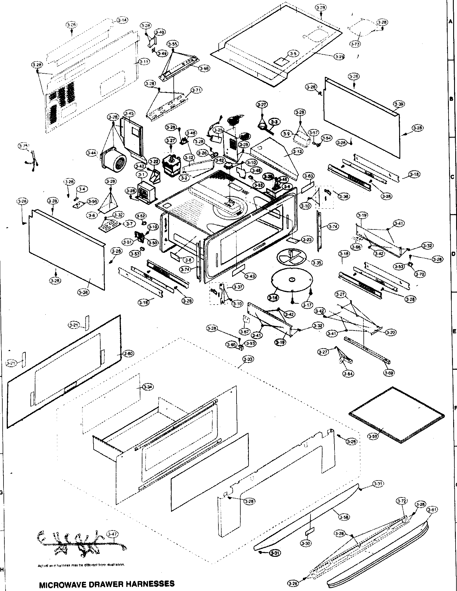 CABINET PARTS Diagram & Parts List for Model kb6014lk