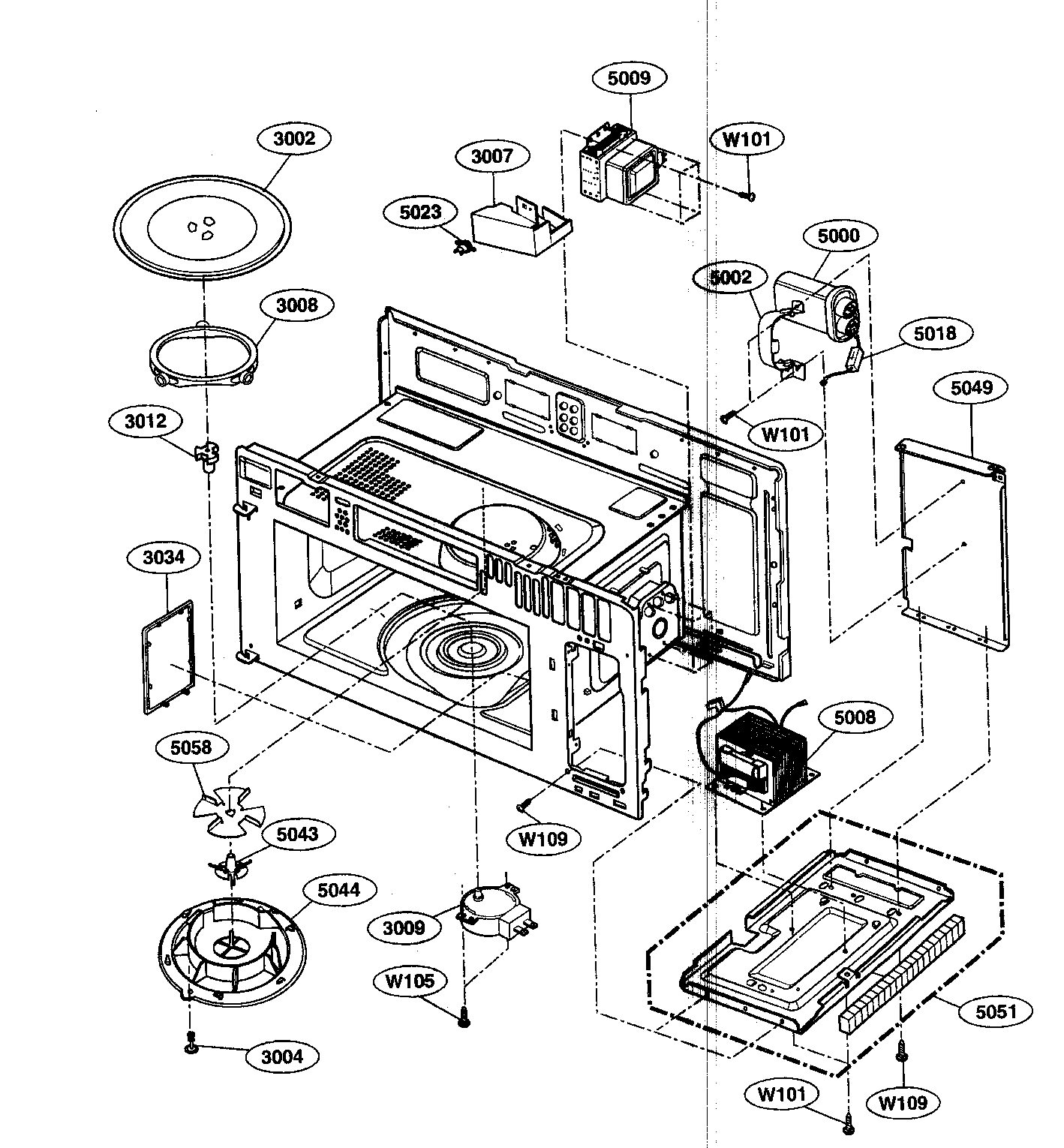 Kenmore Over The Range Microwave Parts