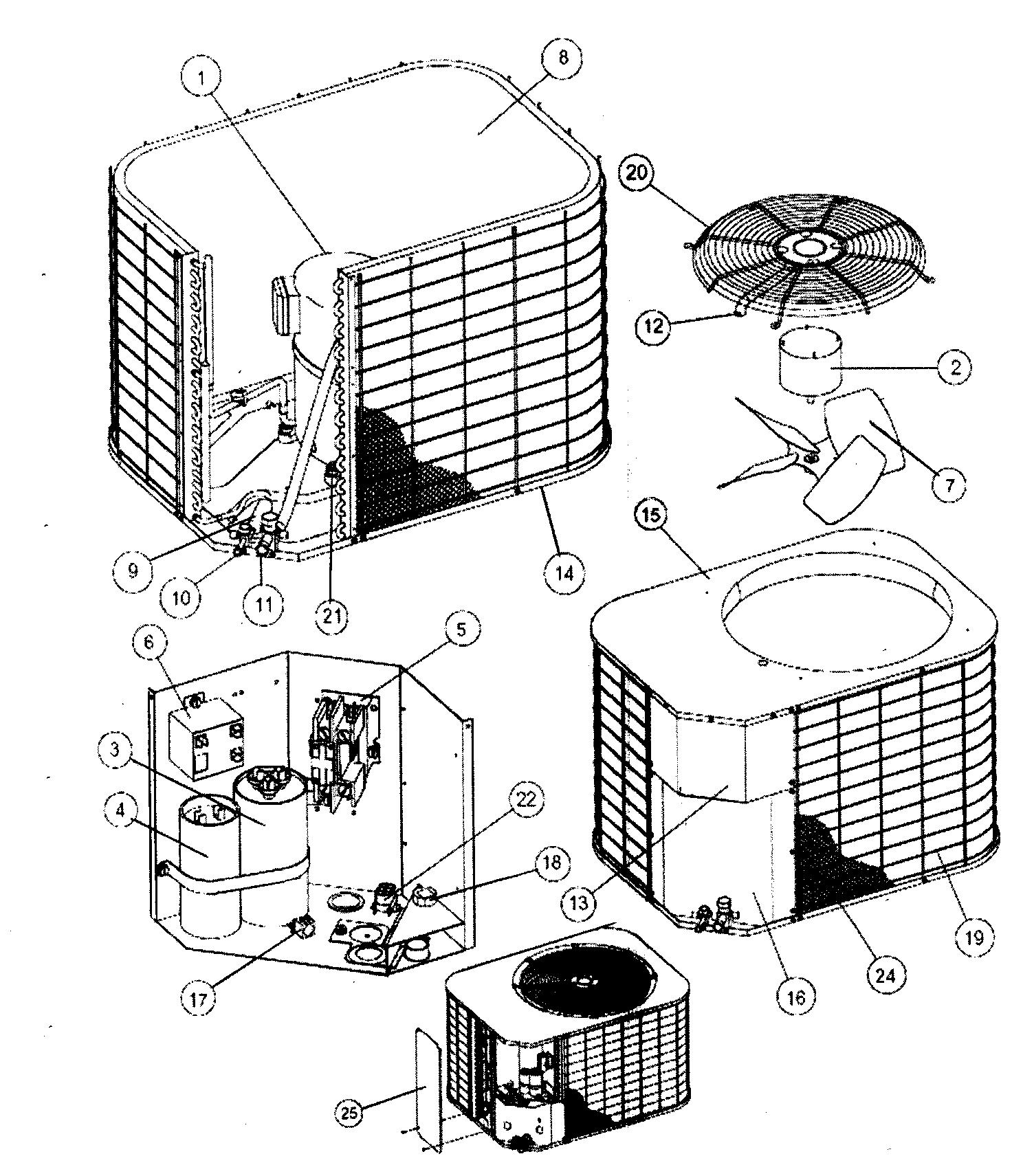 Air Conditioner Parts Condenser Motor Repalcement Parts