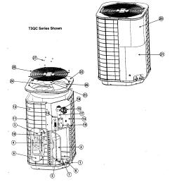 nordyne model t3qc030 air conditioner heat pump outside unit genuine parts [ 1504 x 1623 Pixel ]