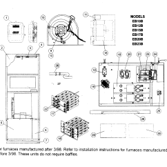 Coleman Evcon Wiring Diagram Thermostat Ls1 Starter Ind Furnace Parts Model Eb17brevf