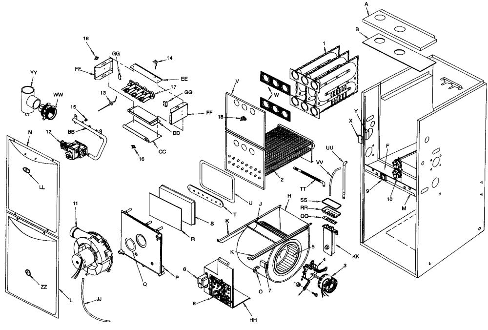 medium resolution of icp model c9uhx060f12a furnace heater gas genuine parts tempstar furnace horizontal installation tempstar furnace diagram