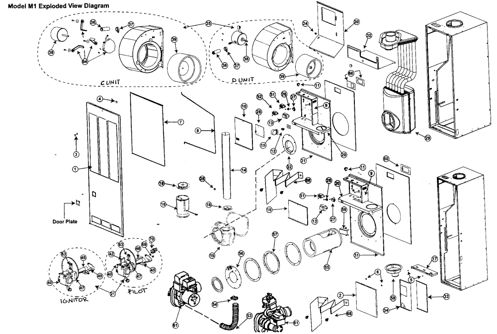medium resolution of nordyne model m1gh090 furnace heater gas genuine parts rh searspartsdirect com intertherm gas furnace parts intertherm