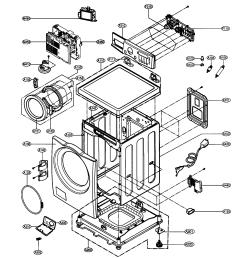 lg wm2496hwm cabinet parts diagram [ 1442 x 1573 Pixel ]