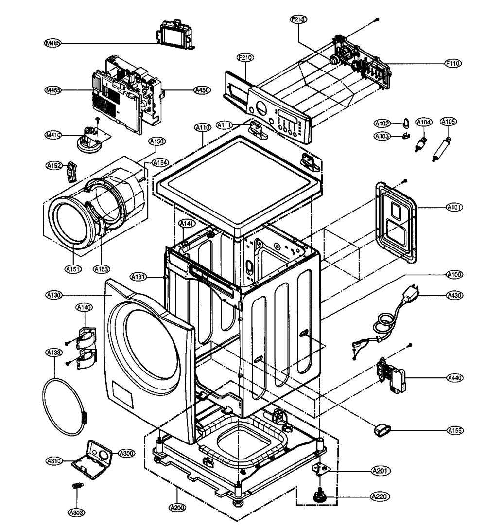 medium resolution of lg wm2496hwm cabinet parts diagram
