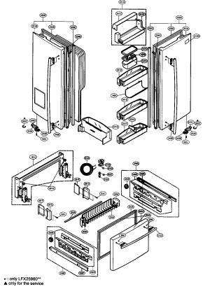 DOOR PARTS Diagram & Parts List for Model LFX21960ST LG