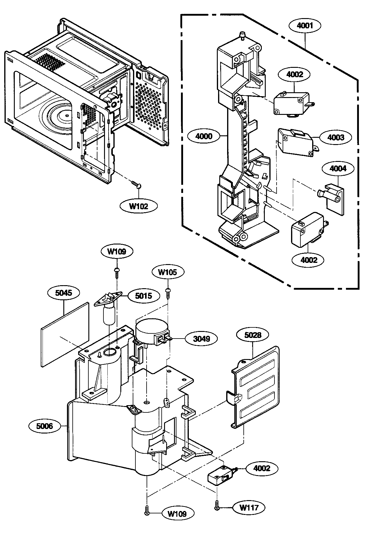 LATCH BOARD PARTS Diagram & Parts List for Model