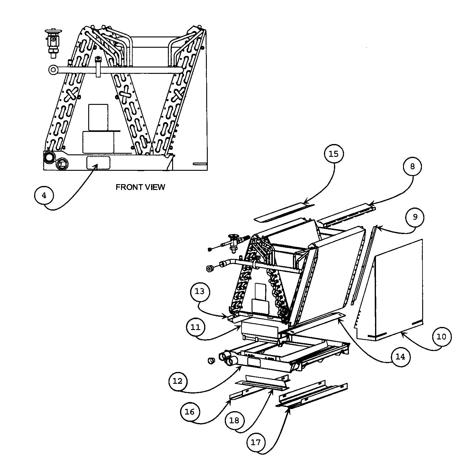 CABINET PARTS Diagram & Parts List for Model