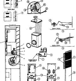 coleman dgaa077bdta cabinet parts diagram [ 1495 x 1752 Pixel ]