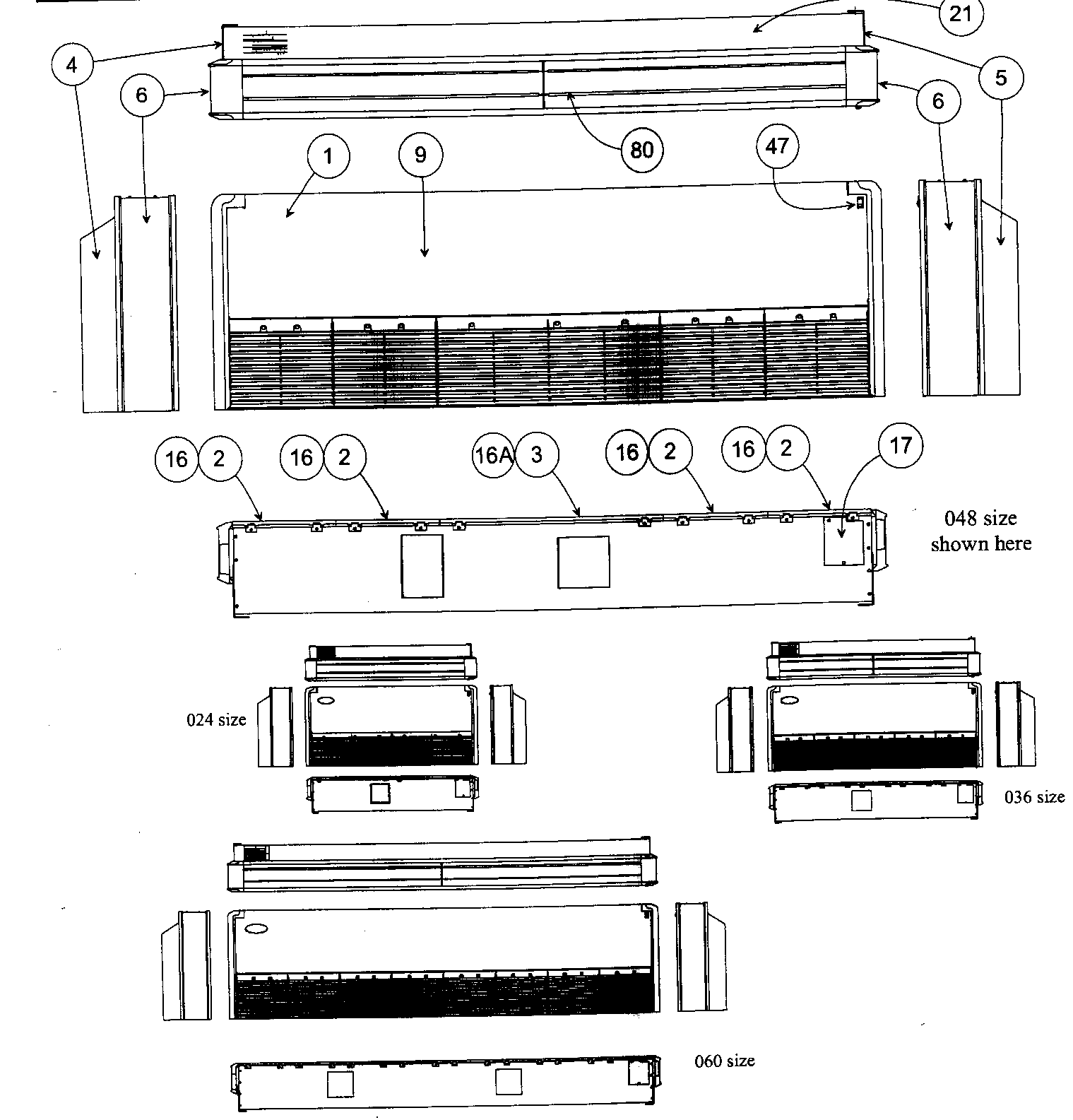 hight resolution of carrier 40qaq048300 front view diagram