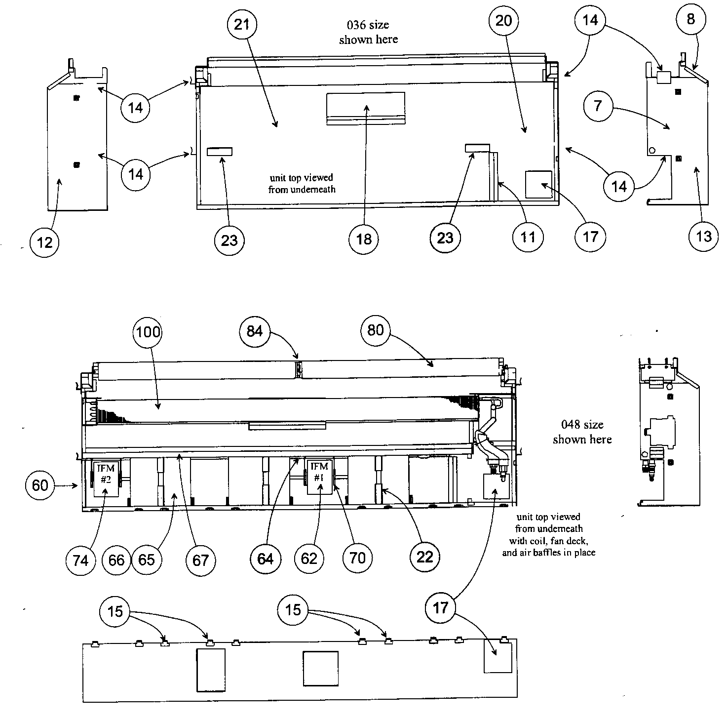 hight resolution of carrier 40qaq048300 top view diagram