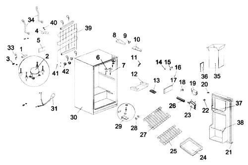 small resolution of mini fridge diagram electrical wiring diagrams table lamp diagram kenmore model 18392779 under counter refrigerator genuine