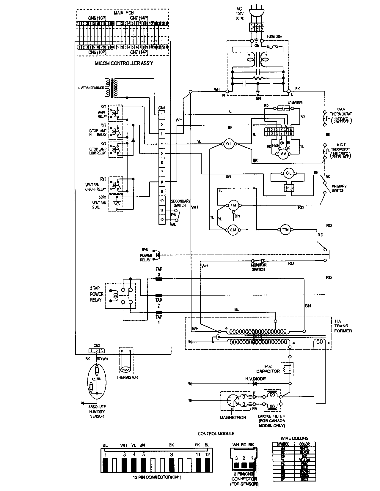 apollo microwave wiring diagram
