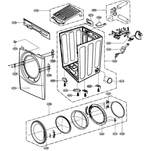 CABINET DOOR ASSY Diagram & Parts List for Model