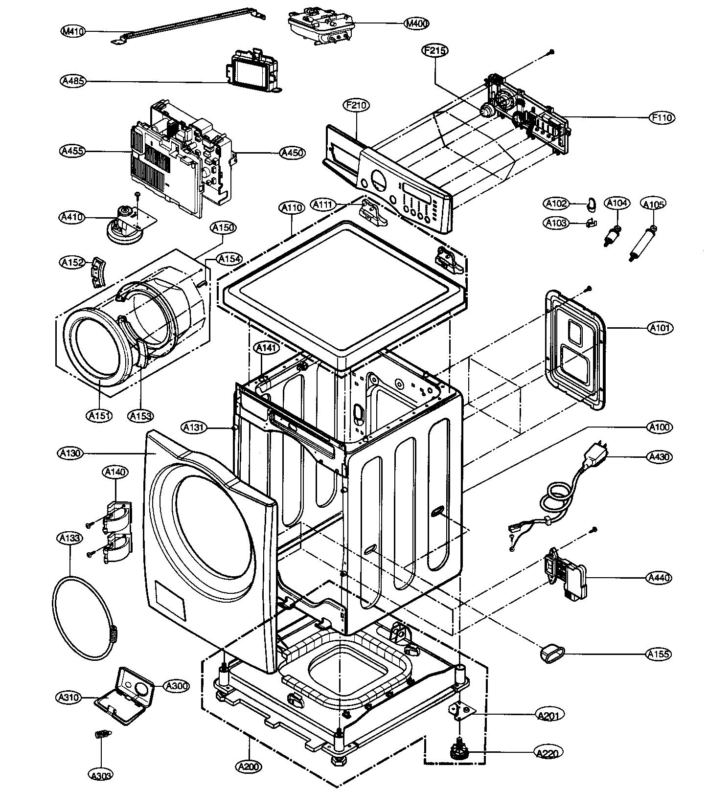 Front Load Washers: Lg Front Load Washer Parts Diagram