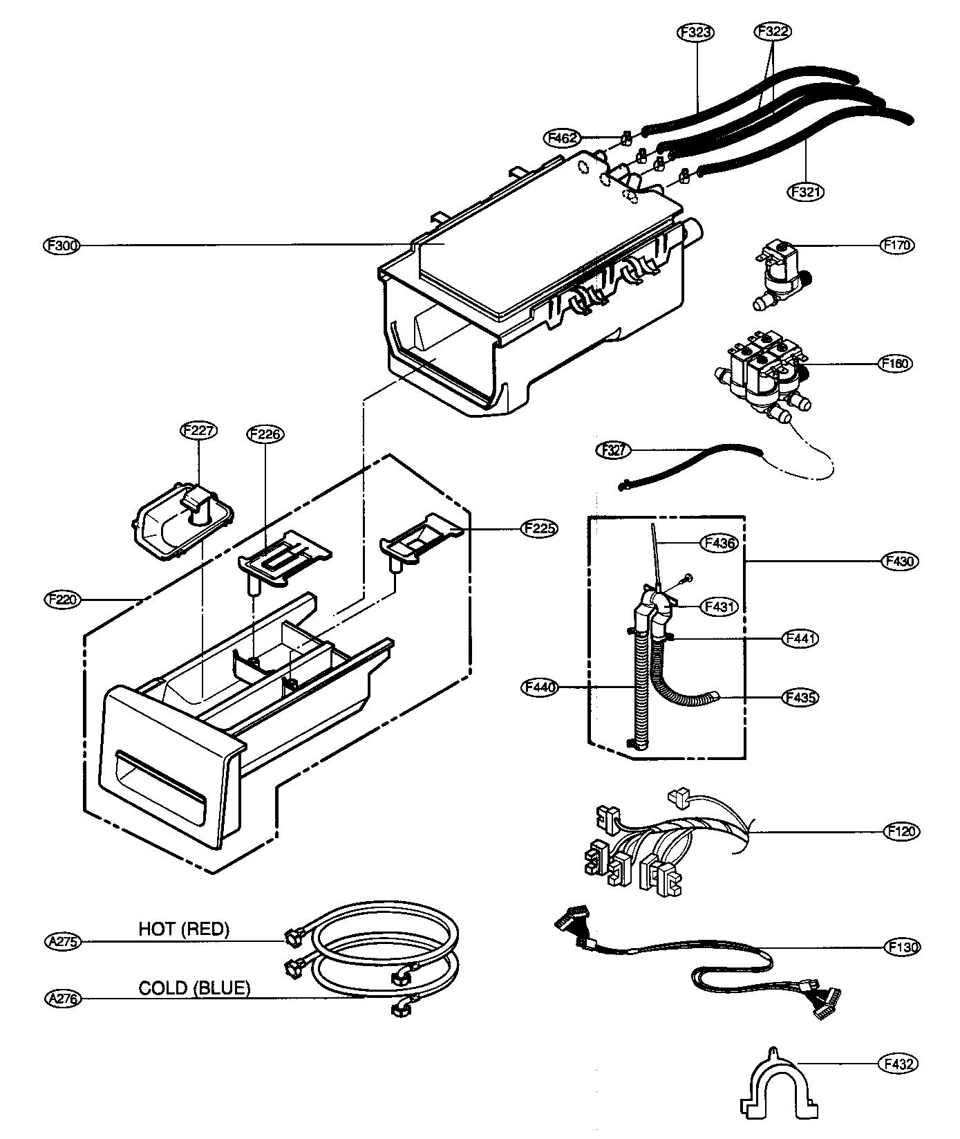 DISPENSER ASSY Diagram & Parts List for Model wm2688hnm LG