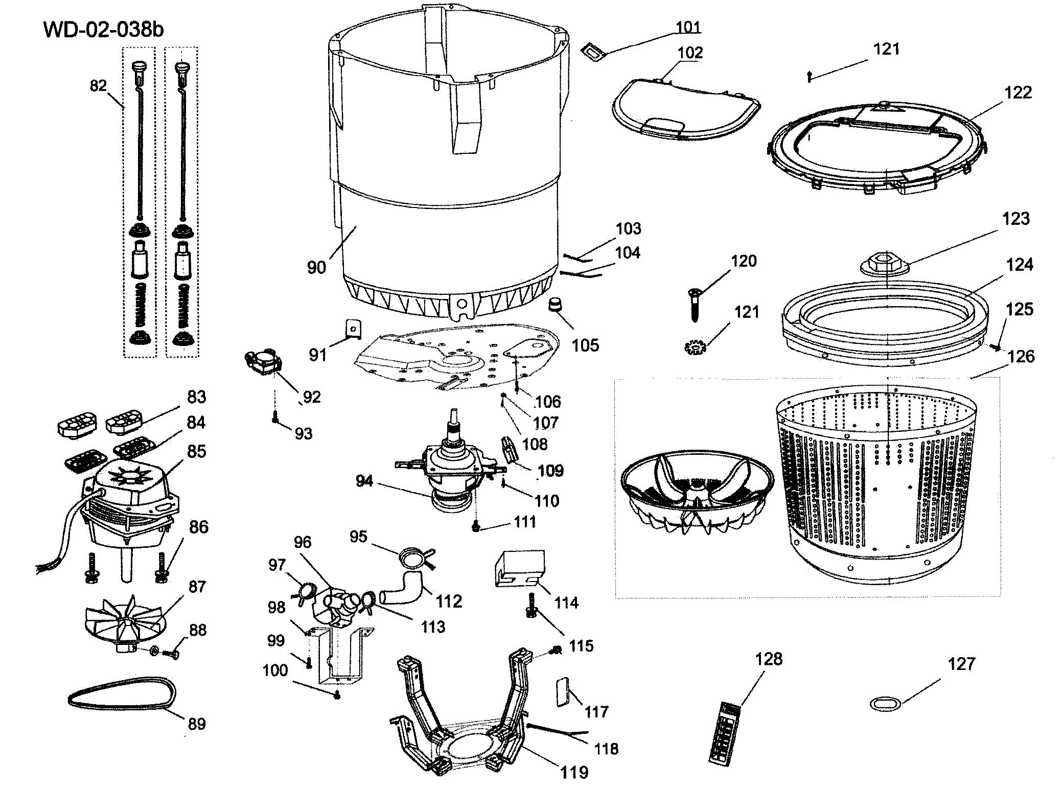 TUBE ASSY Diagram & Parts List for Model hlt364xxq Haier